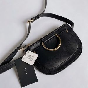 Zara Belt Bag with gold D ring Detail
